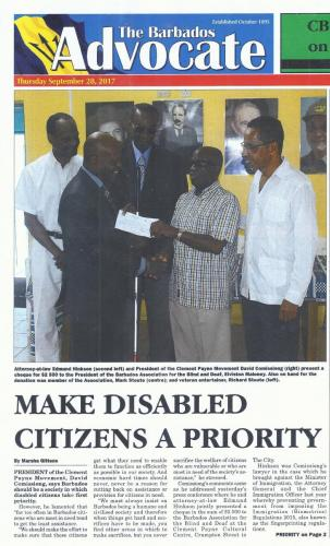 Make disabled citizens a priority 1