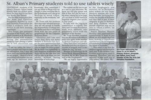 Free tablets for the students