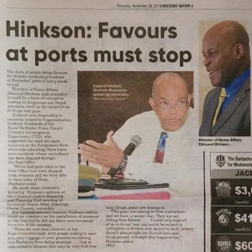 Favours at ports must stop