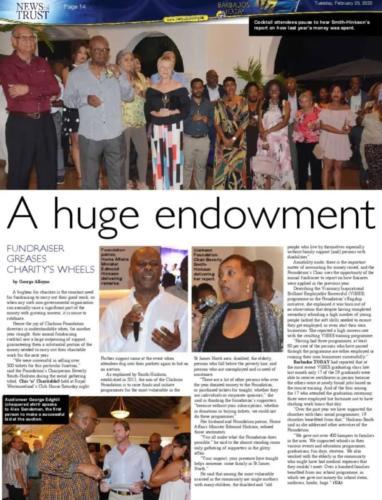 An huge endowment