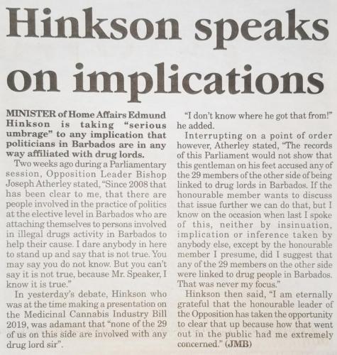 Hinkson speaks on implications