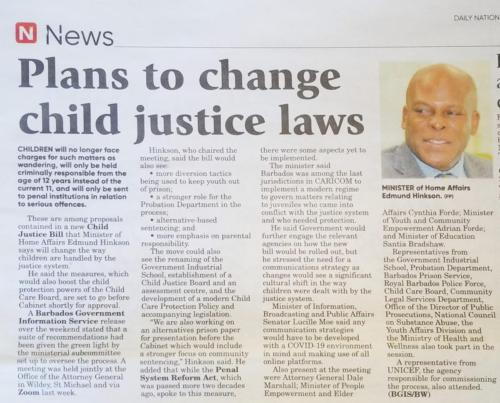 Plans to change child justice laws