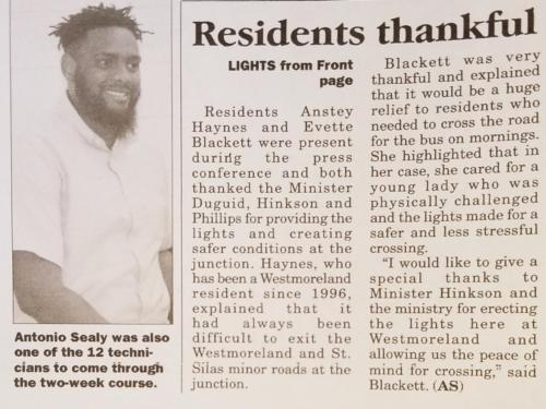 Residents thankful